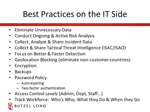 Best Practices on the IT Side
