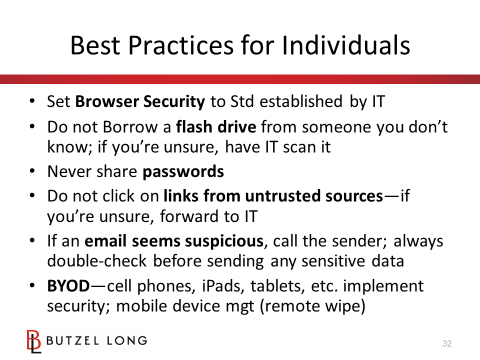 Best Practices for Individuals