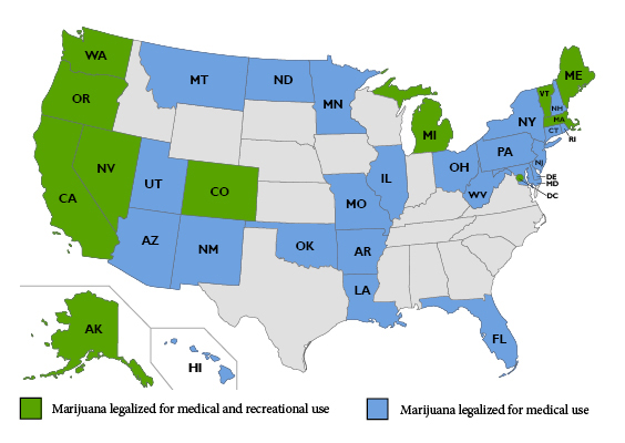 Cannabis Legalization Map